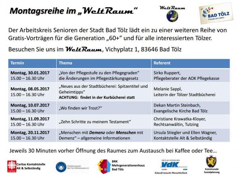 WeltRaum Programm 2017